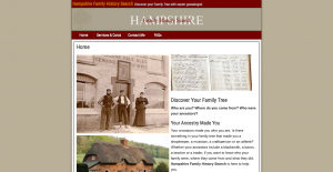Hampshire Family History Search website