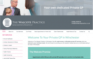 The Walcote Practice website