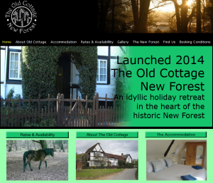 Old Cottage New Forest website screengrab